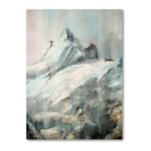 Landscape painting of The Eiger Mountain peak